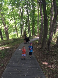 The boys on the trail...